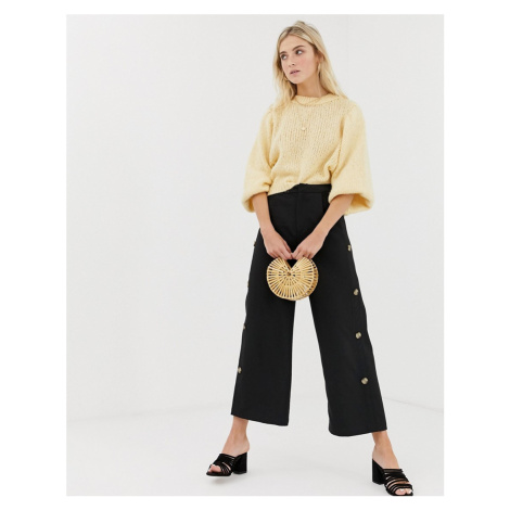 Glamorous wide leg trousers with button sides