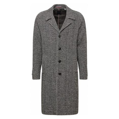 Tommy Hilfiger Tailored Płaszcz przejściowy 'HERRINGBONE' szary / czarny