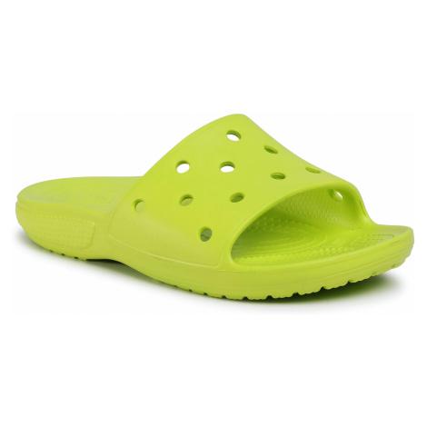 Klapki CROCS - Classic Crocs Slide 206121 Lime Punch