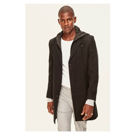Trendyol Black Men's Jacket-Hooded