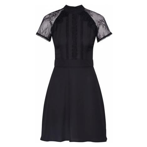 Boohoo Suknia wieczorowa 'Lace Detail Mini Dress' czarny