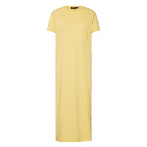 POLO RALPH LAUREN Letnia sukienka 'PKT TEE DRS-SHORT SLEEVE-CASUAL DRESS' żółty