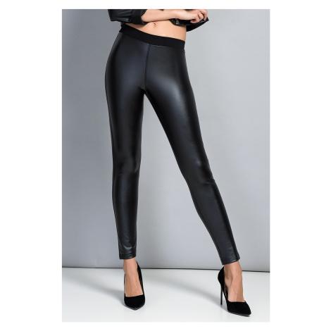 Damskie czarne gładkie legginsy Jadea