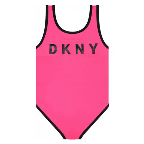 DKNY Strój kąpielowy D37093 D Różowy