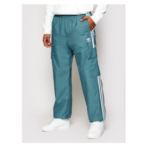 Adidas Spodnie dresowe adicolor Classics 3-Stripes GN3450 Zielony Regular Fit