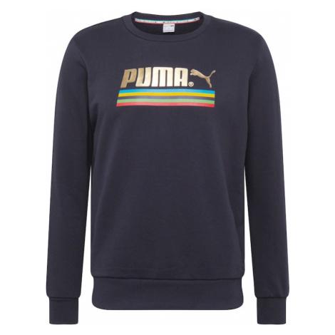 PUMA Bluzka sportowa 'Worldhood' czarny / złoty / mieszane kolory