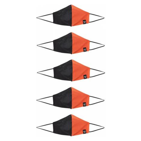 Grubenhelden Maska z materiału 'Colourblock' pomarańczowy / czarny