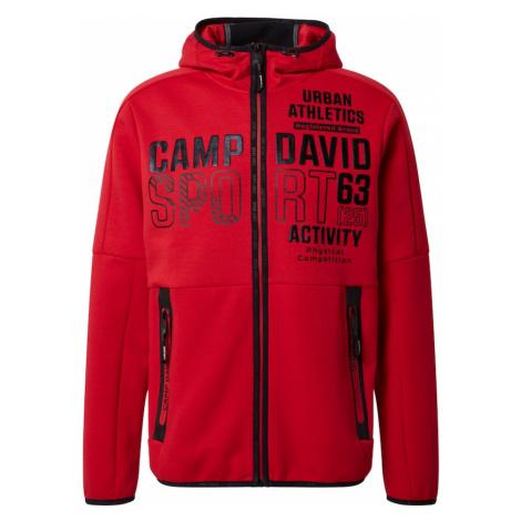 CAMP DAVID Bluza rozpinana krwistoczerwony / czarny