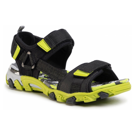Sandały SUPERFIT - 6-00101-00 D Schwarz/Grün