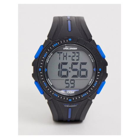 Challenger mens fitness watch in black and blue