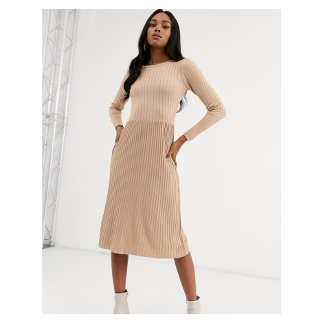 Y.A.S ribbed knitted midi dress