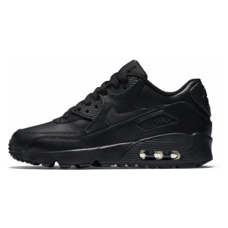 Buty dla dużych dzieci Nike Air Max 90 Leather - Czerń