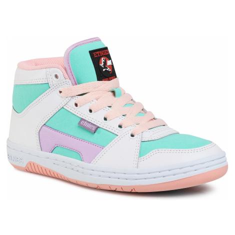 Sneakersy ETNIES - Mc Rap High W's 4201000332 White/Green
