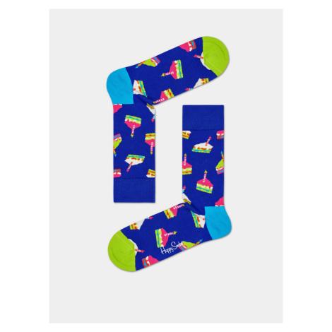 Niebieskie wzorzyste skarpetki Happy Socks Bday Cake