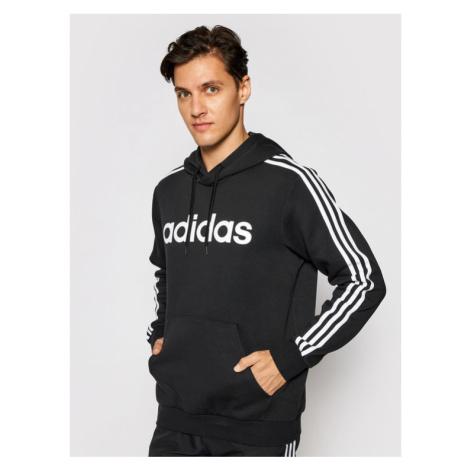 Adidas Bluza Essentials 3-Stripes DQ3096 Czarny Regular Fit