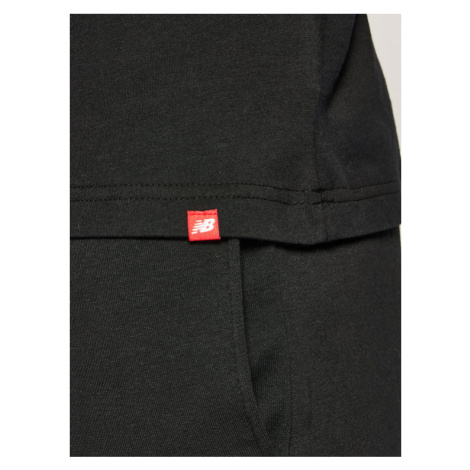 New Balance T-Shirt Essentials Stacked Logo Tee MT01575 Czarny Athletic Fit