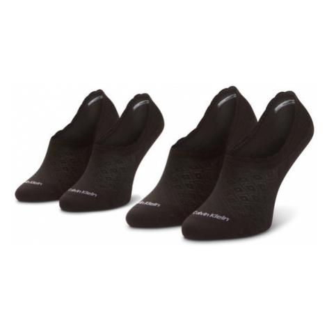 Calvin Klein Zestaw 2 par stopek damskich 100001799 Czarny