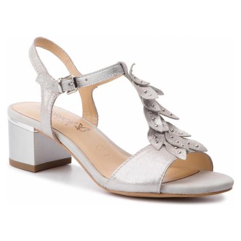 Sandały CAPRICE - 9-28213-22 Silver Sue. Met 924