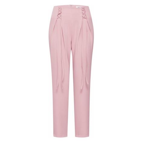 Missguided Spodnie różowy pudrowy