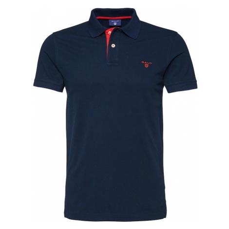GANT Koszulka 'Rugger' niebieska noc / czerwony