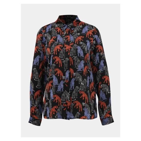 Czarna wzorzysta koszula VERO MODA Lotus