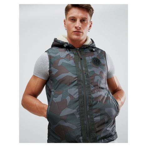 Armani Exchange 3 in 1 hooded bomber jacket in khaki
