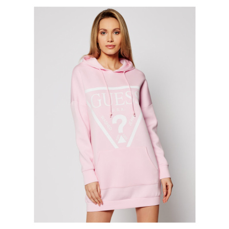 Guess Sukienka dzianinowa O1GA32 KAMN2 Różowy Relaxed Fit