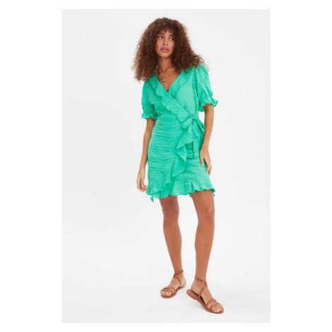Suknia dwurzędowa Trendyol Green Flywheel