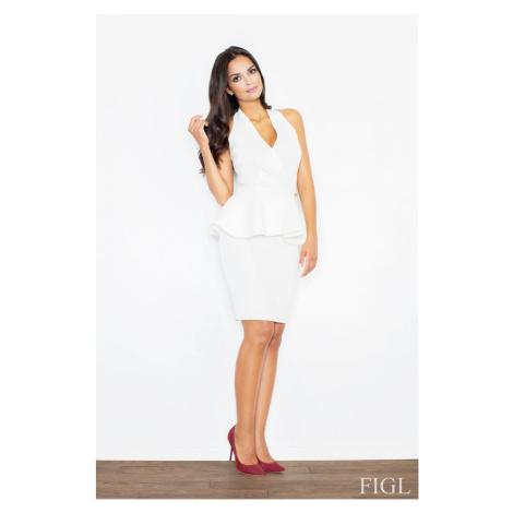 Sukienka damska M368 ecru Figl