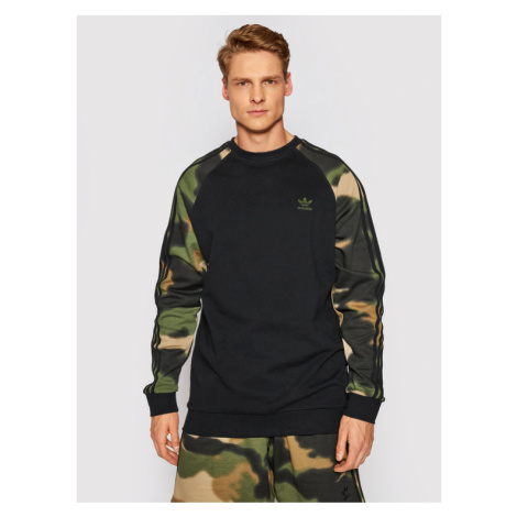 Adidas Bluza Camo Stripes GN1858 Czarny Regular Fit