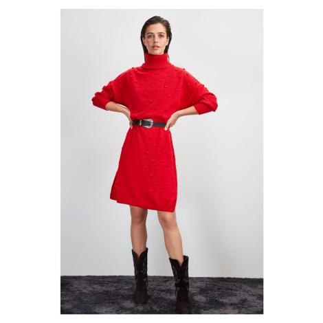 Trendyol Red TurtleNeck Knitwear Dress