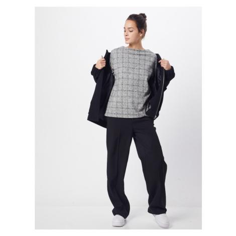 TOM TAILOR Bluzka sportowa 'sweatshirt cosy check' ciemnoszary / nakrapiany szary / biały