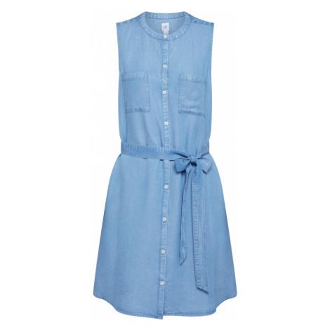 GAP Sukienka koszulowa niebieski denim