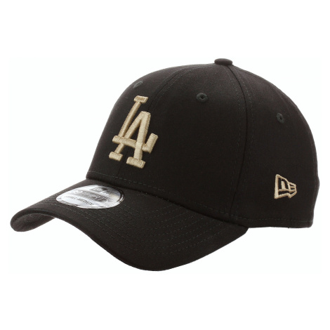 czapka z daszkiem New Era 39T League Essential MLB Los Angeles Dodgers - Black/Camel