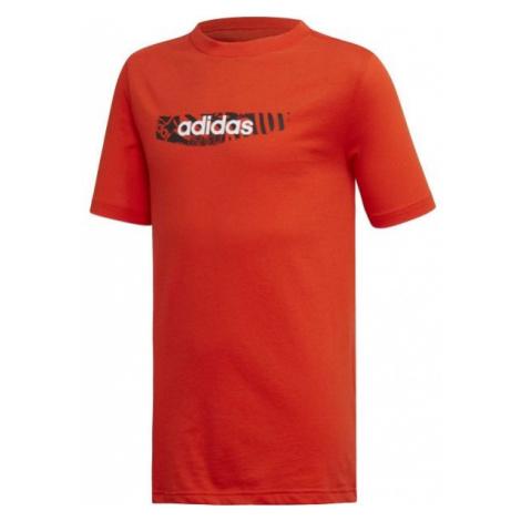 adidas YB E GRAPH TEE pomarańczowy 140 - Koszulka chłopięca