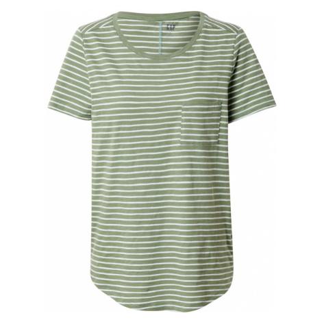 GAP Koszulka 'V-SS EASY SCOOP STR' biały / oliwkowy