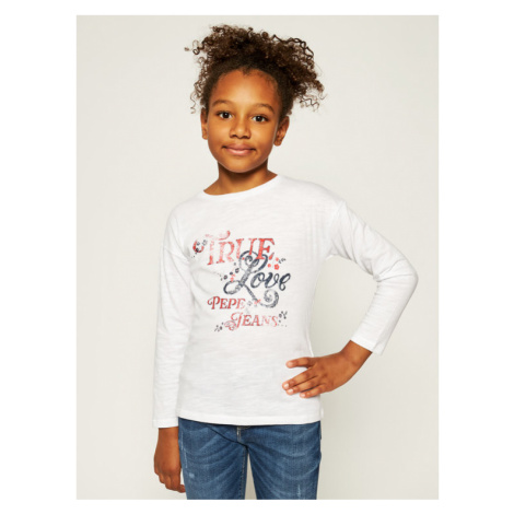 Pepe Jeans Bluzka Crismon PG502382 Biały Regular Fit
