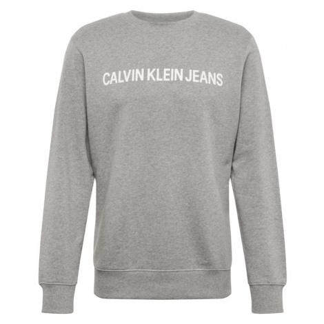 Calvin Klein Jeans Bluzka sportowa szary / biały