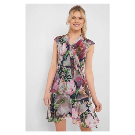 Szyfonowa sukienka w kwiaty Orsay