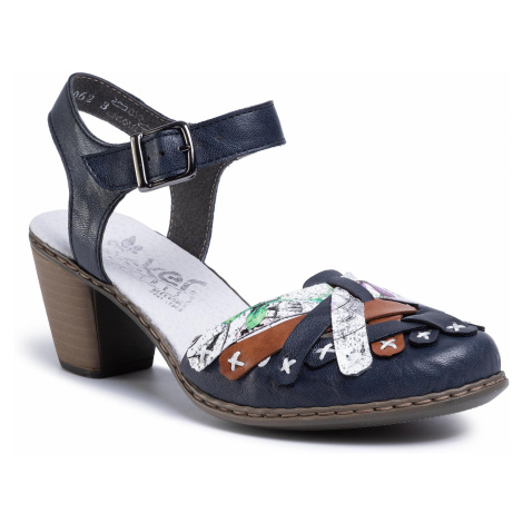 Sandały RIEKER - 40970-14 Blau Kombi