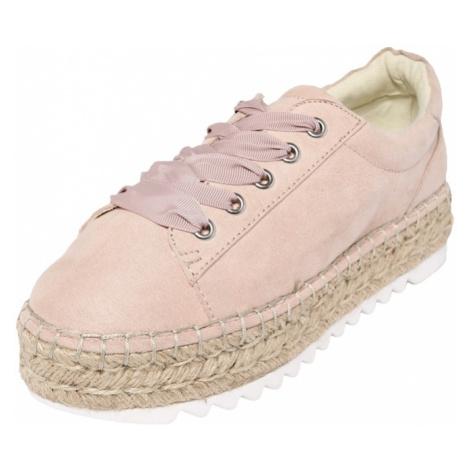 BULLBOXER Buty sznurowane różowy pudrowy