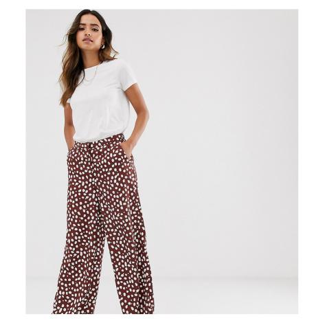 Vero Moda printed wide leg trousers