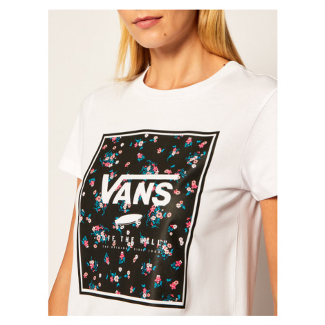 Vans T-Shirt Boxed In Boxy VN0A4SDP Biały Regular Fit
