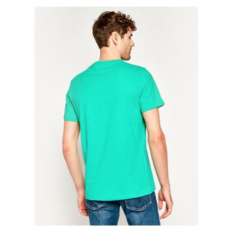 Wrangler T-Shirt Ss Logo W742FK082 Zielony Regular Fit