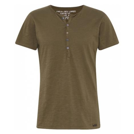 Key Largo Koszulka 'MT LEMONADE button' oliwkowy
