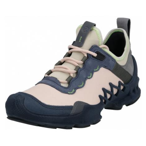 ECCO Buty sznurowane beżowy / różowy pudrowy / niebieski