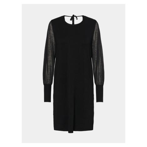 Czarna sweterkowa sukienka VERO MODA Bellissimo