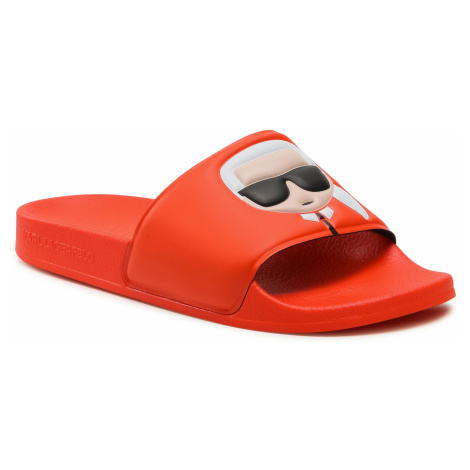 Klapki KARL LAGERFELD - KL80905 Orange Rubber