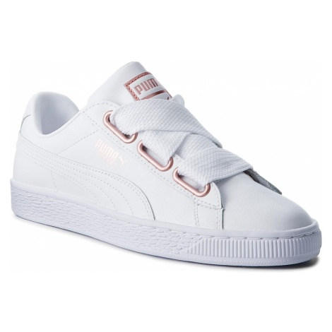 Sneakersy PUMA - Basket Heart Leather 367817 01 Puma White/Rose Gold