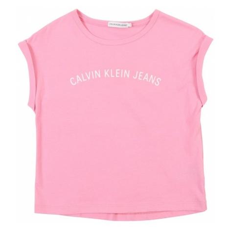 Calvin Klein Jeans Top różowy / biały